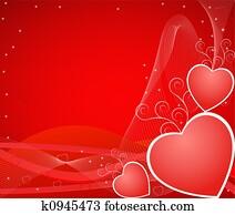 Romantic artistic backgr