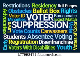 Voter Suppression Word Cloud