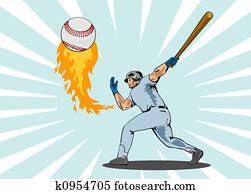 Baseball player stri