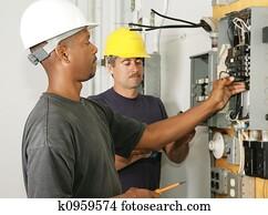 Fotos electricistas en el trabajo k5004048 buscar for Trabajo de electricista en malaga