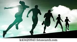 Running Women and Men