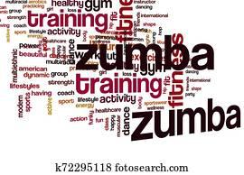 Zumba word cloud