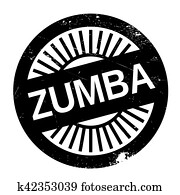 Famous dance style, zumba stamp