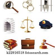 Law Legal Icons Set