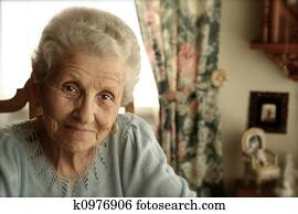 Elderly Woman With Bright Eyes