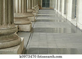 Law and Order Pillars Outside Court