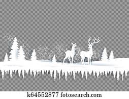 winterbilder, papier, landschaft