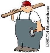 Carpenter With A Hammer