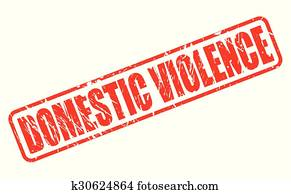 DOMESTIC VIOLENCE red stamp text