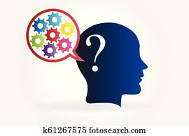 Intelligent brain thinking in solutions logo