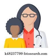 Pediatrician Vector Icon