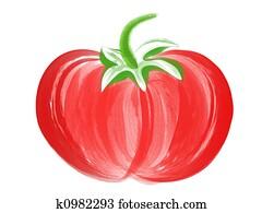 Tomato Brush Art