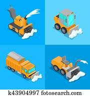 Winterdienst Clip Art Vektor Grafiken 170 Winterdienst Eps Clipart