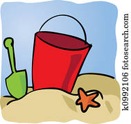 Seaside beachbucket