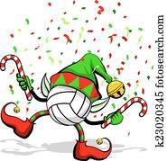 Volleyball Christmas Elf