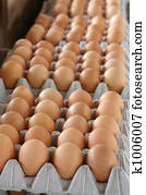 Eggs for sale on a market stall