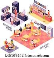Food Court Design Concept