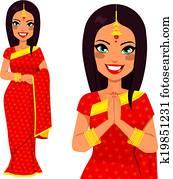indische, traditionelle, frau