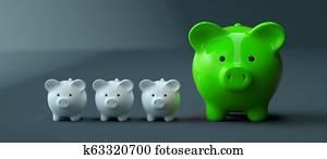 Piggy Bank save money investment