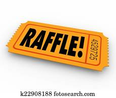 Raffle Ticket Word Enter Contest Winner Prize Drawing