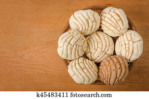 Stock Image Of Mexican Concha Sweet Bread K45484725 Search Stock