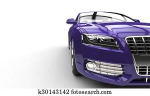 Purple Car Front