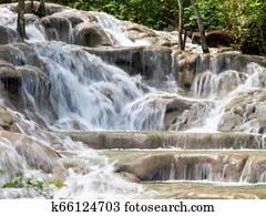 Falls at Dunns River Jamaica