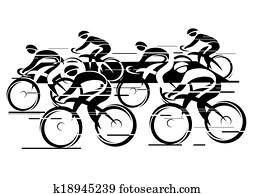 Peleton Cycle race
