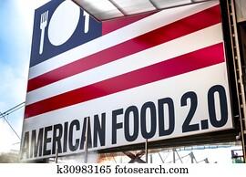 Signboard american food