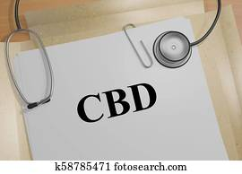CBD - medical concept