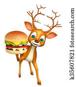 Deer cartoon character