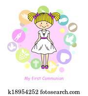 Girl First Communion