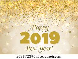 Happy New Year 2019 Banner Clipart K59785671 Fotosearch
