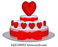 3d cake with Love