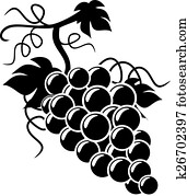 Silhouette Grapes illustration