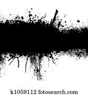 grunge black strip