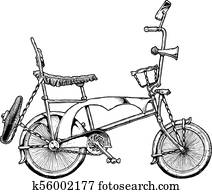 illustration of lowrider bicycle