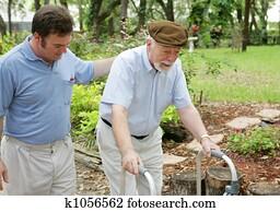Son & Elderly Father