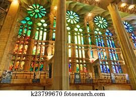 BARCELONA, SPAIN - SEPTEMBER 04: Sagrada Familia, beautiful and m