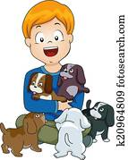 Dog Lover Kid