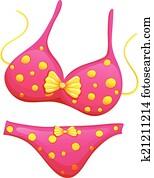 a, rosa, bikini