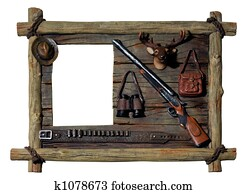 Decorative wooden picture frame Hunter theme
