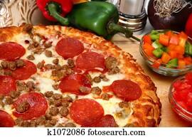 Peperoni and Sausage Pizza