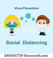Social distancing pupil background