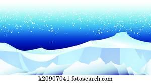 arktisch, landschaft, muster