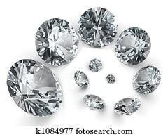 Spiral of different diamonds