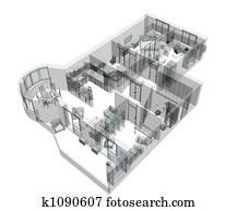 3d sketch apartment