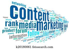 Content marketing conept in word tag cloud