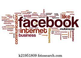 Facebook word cloud