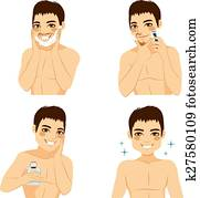 How To Shave Man Steps